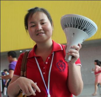 Chinese girl with LED R125