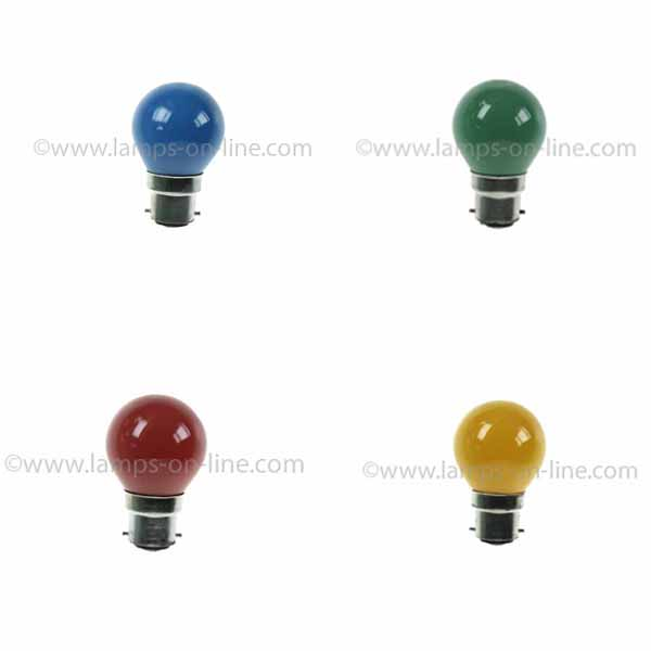 Regular Coloured Golf Ball Bulbs