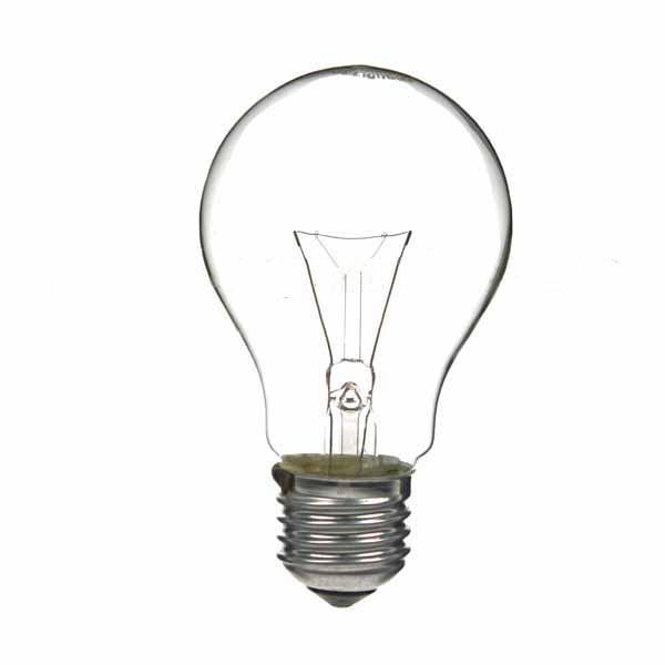 Gls Light Bulb 240v 100w E27 Clear Standard Gls Light Bulbs