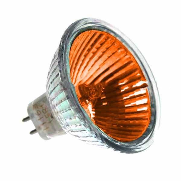 Mr16 12v 50w Gu5 3 Amber Bulbs For Optimyst Fires
