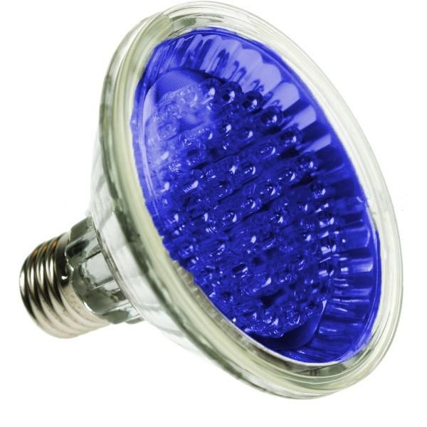 par30 led spotlight bulb e27 blue 24 led led lamps led par30 coloured. Black Bedroom Furniture Sets. Home Design Ideas