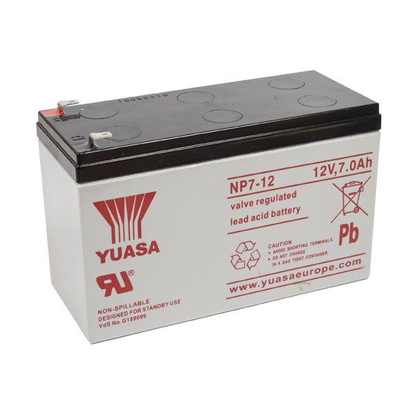 yuasa np7 12 vrla battery 12v 7ah. Black Bedroom Furniture Sets. Home Design Ideas