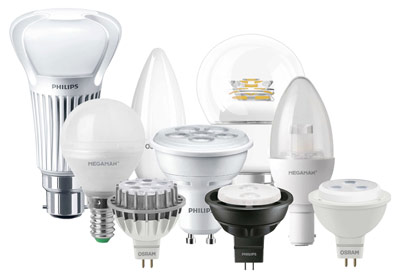 Common household LED lamps