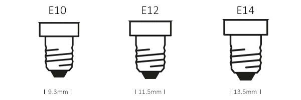 e10-e12-e14 screw bases