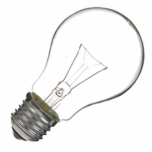 a traditional incandescent light bulb