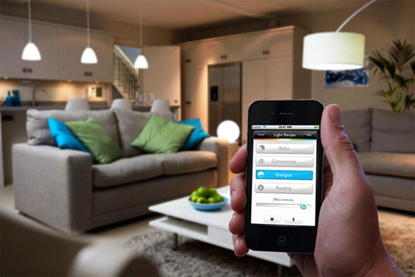 smart lighting through app