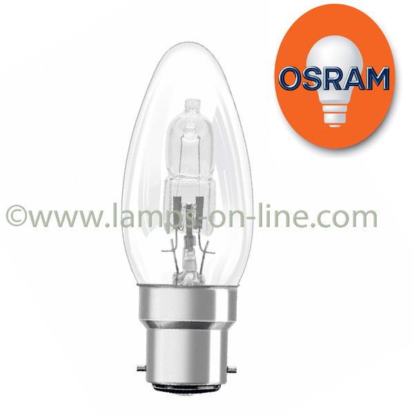 Osram Halogen Classic B ECO Candle Bulb