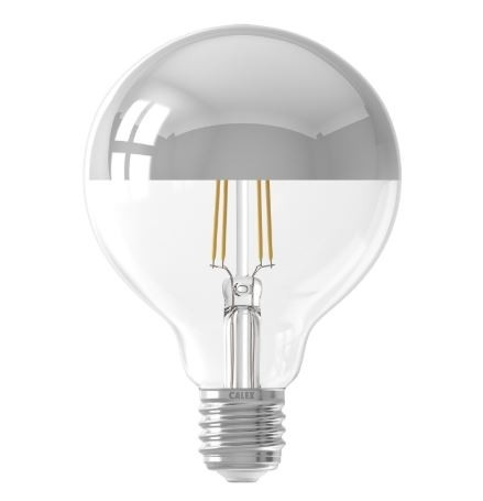 LED Crown Silver Globe G95 4w E27 Dimmable