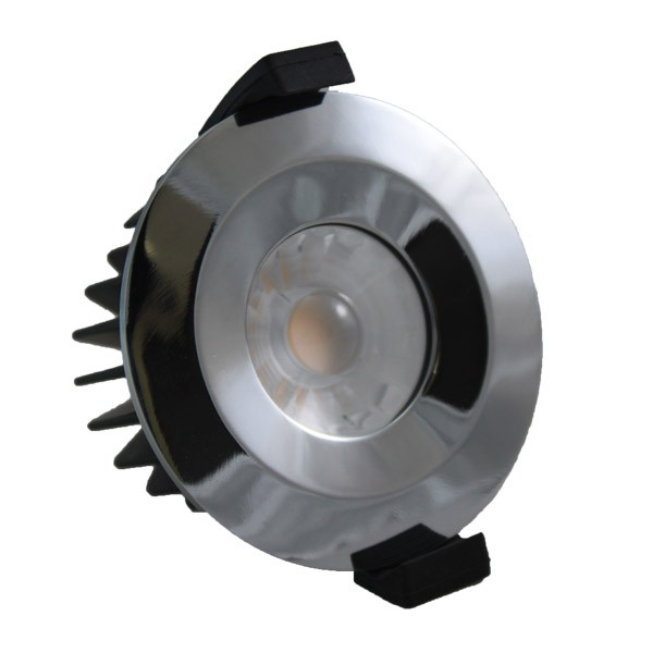 LED Downlight Fire Rated 6W 38° 3000K Chrome
