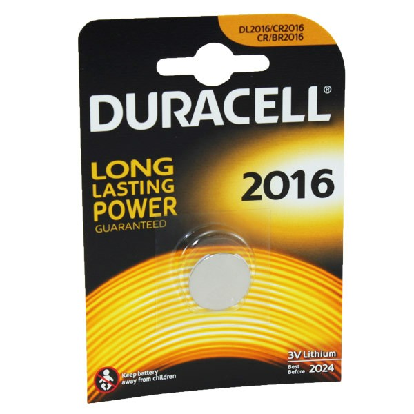 Duracell Car Key Battery CR2016 DL2016