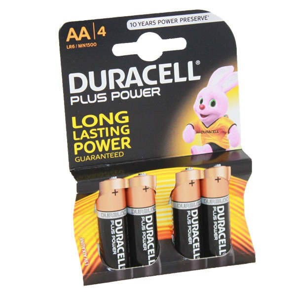 Duracell Plus Power Battery AA LR6 MN1500 4pk