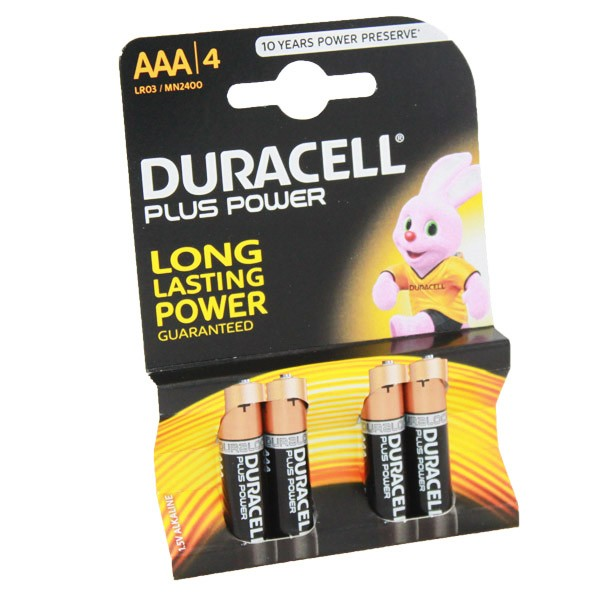 Duracell Plus Power Battery AAA MN2400 4pk