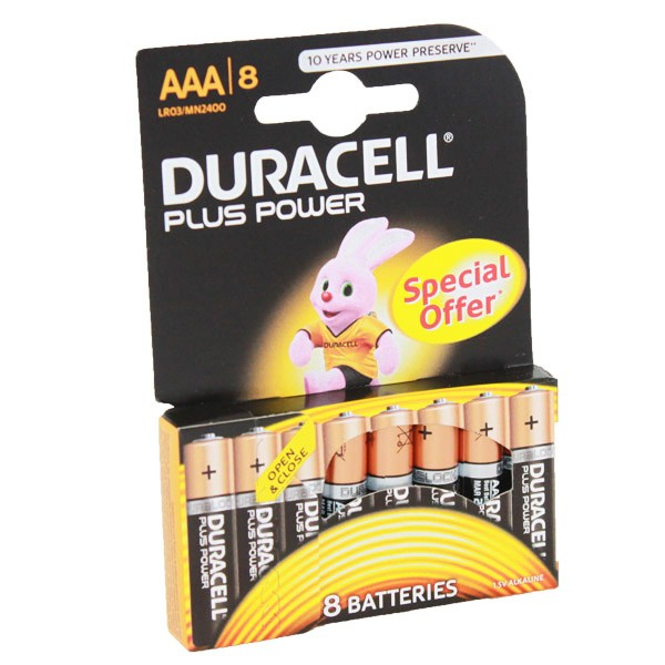 Duracell Plus Power Battery AAA MN2400 8pk