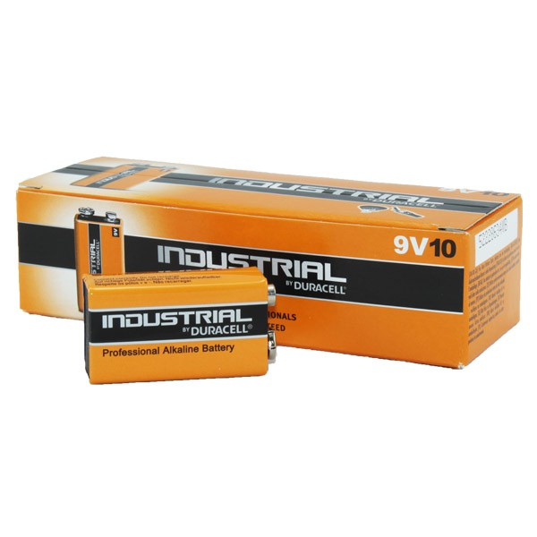 Duracell Industrial Battery 9v  MN1604 10pk