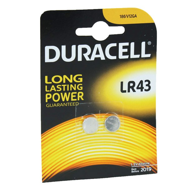 Duracell Battery LR43 186  2 Pack