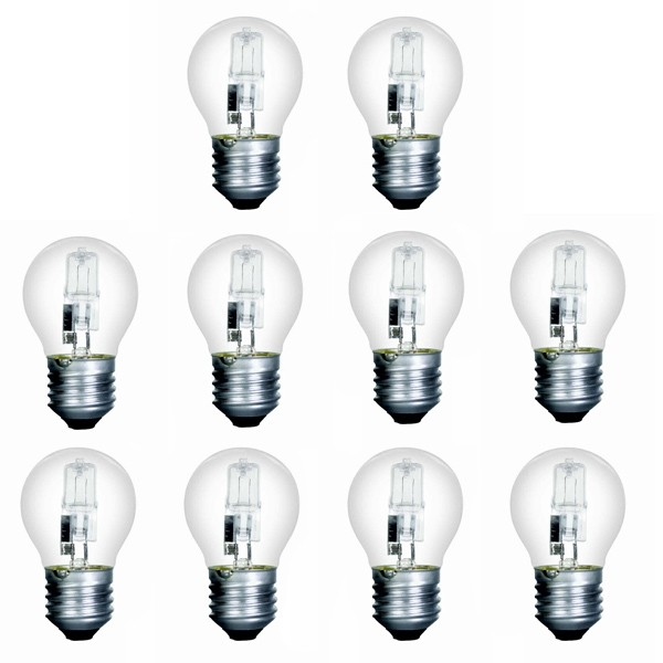 10 x Low Energy Halogen G45 42W E27 Clear