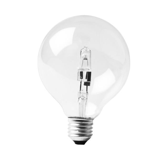 LOW ENERGY HALOGEN GLOBE 95MM 42W E27 CLEAR