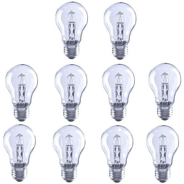 10X Low Energy Halogen Light Bulb GLS 28W ES