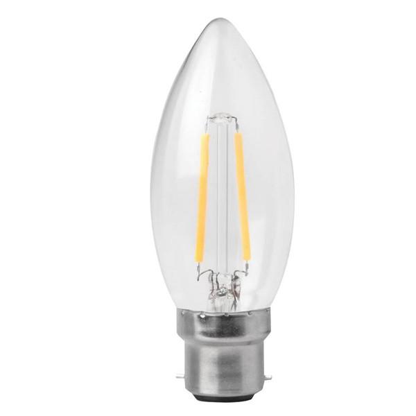 LED Filament Candle Megaman 3w B22d Clear