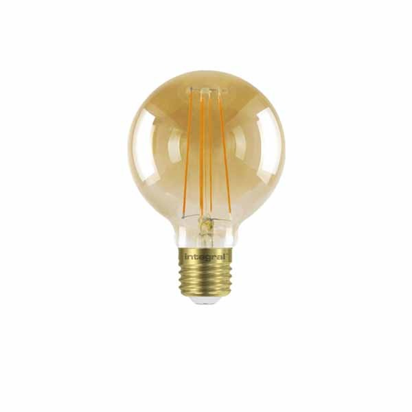 LED Edison Bulb G80 5w E27 Amber Dimmable