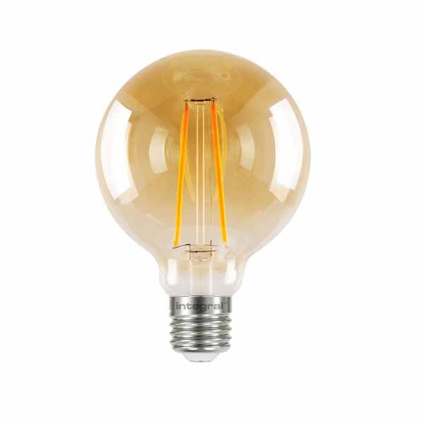 LED Edison Bulb G95 5w E27 Amber Dimmable