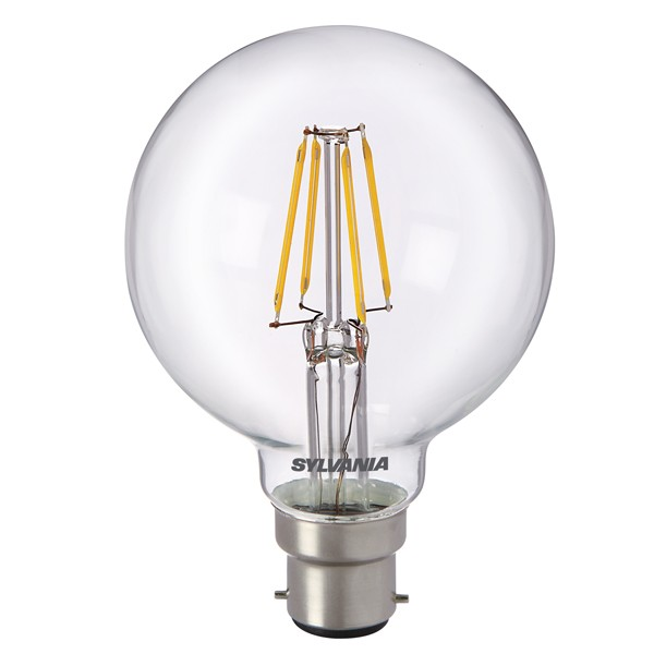 LED Filament Globe SYLVANIA Toledo 5w B22d