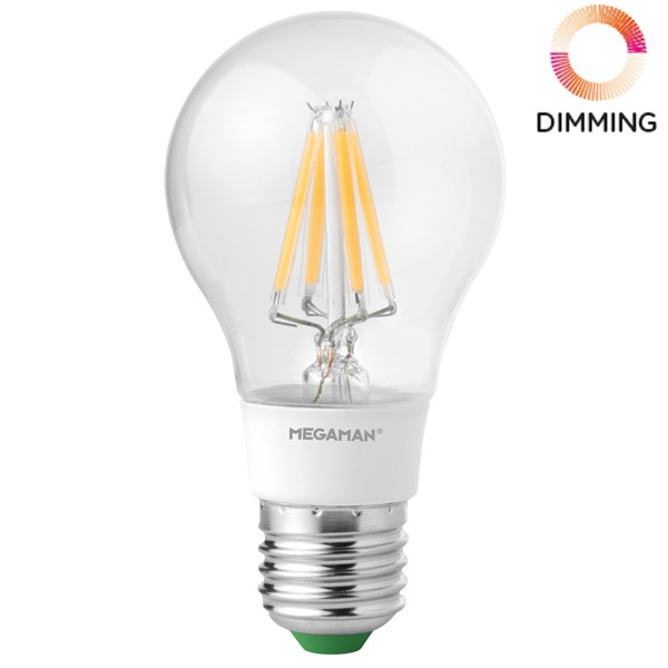 LED Filament Bulb Megaman 5.5w E27 Dimmable