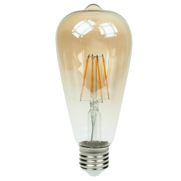 LED Squirrel Cage 4w E27 Gold Tint