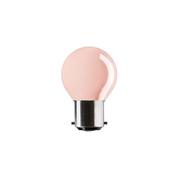 Golf Ball Bulb 45mm Round 240V 25W B22D Pink