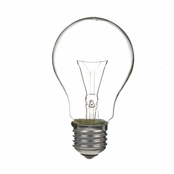 GLS Light Bulb 240V 15W E27 Clear
