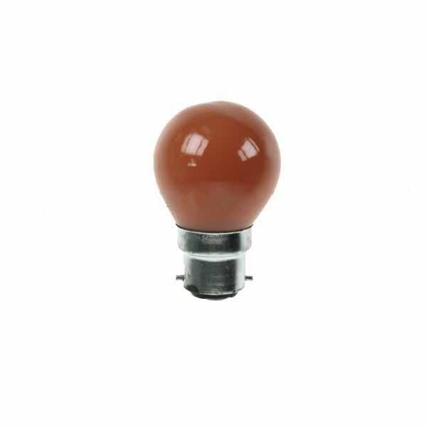 Golf Ball Bulb 45mm Round 240V 15W BC Amber