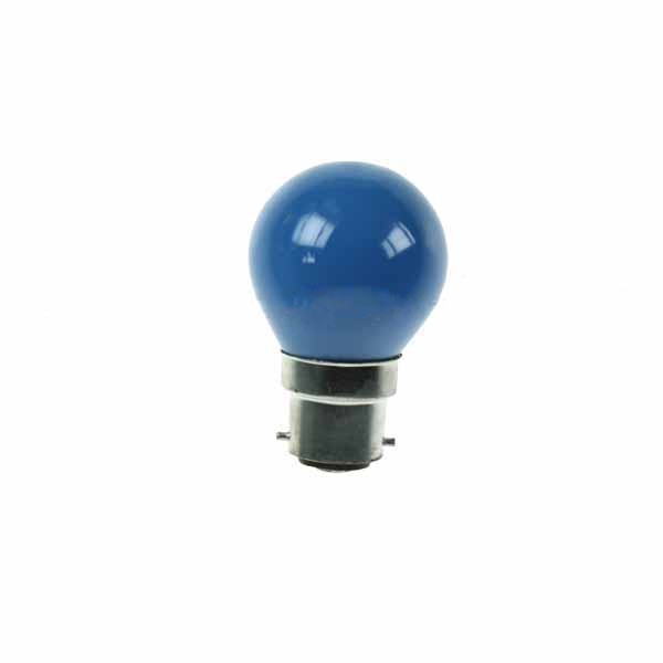 Golf Ball Bulb 45mm Round 240V 15W BC Blue