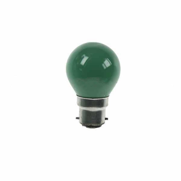 Golf Ball Bulb 45mm Round 240V 15W BC Green