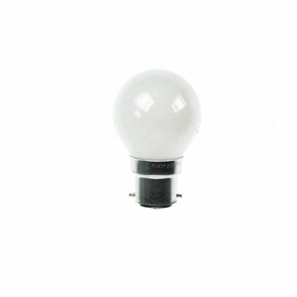 Golf Ball Bulb 45mm Round 15W BC Opal/White