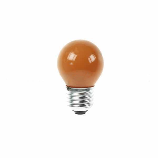 Golf Ball Bulb 45mm Round 240V 15W E27 Amber