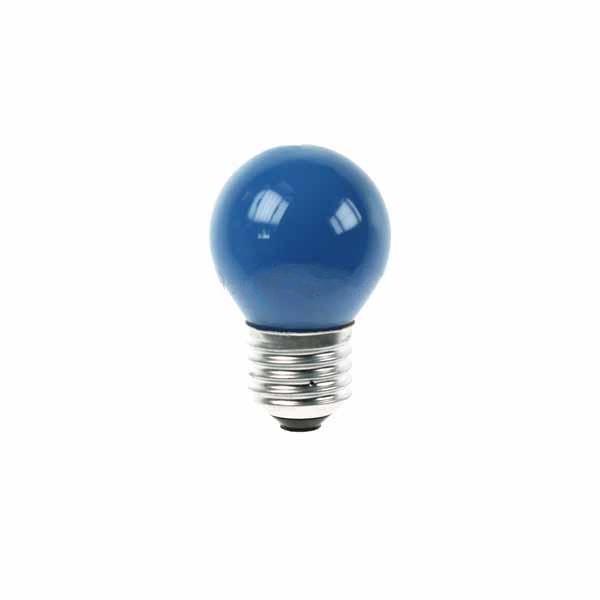 Golf Ball Bulb 45mm Round 240V 15W E27 Blue