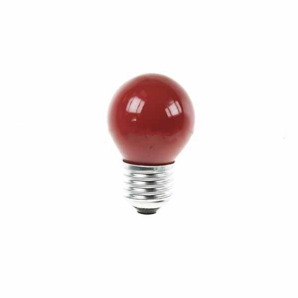 Golf Ball Bulb 45mm Round 240V 15W E27 Red