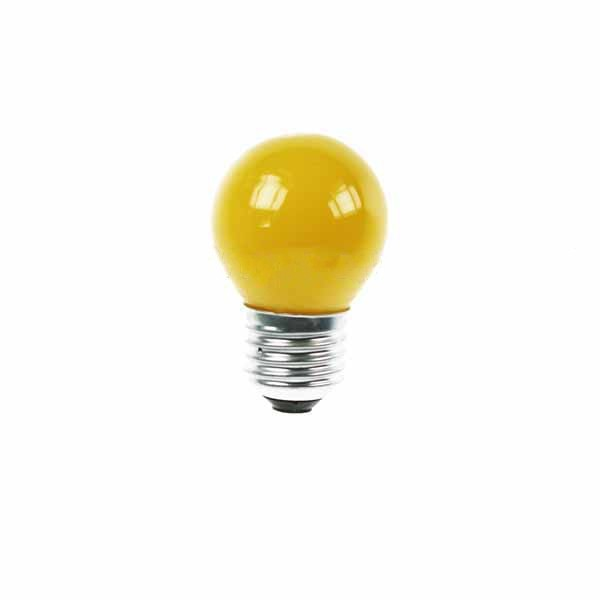 Golf Ball Bulb 45mm Round 240V 15W E27 Yellow