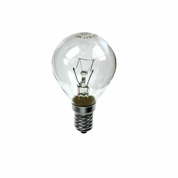 Golf Ball Bulb 45mm Round 240V 15W E14 Clear