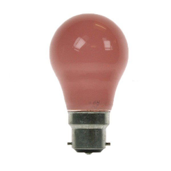 GLS Light Bulb 240V 25W B22D Pink