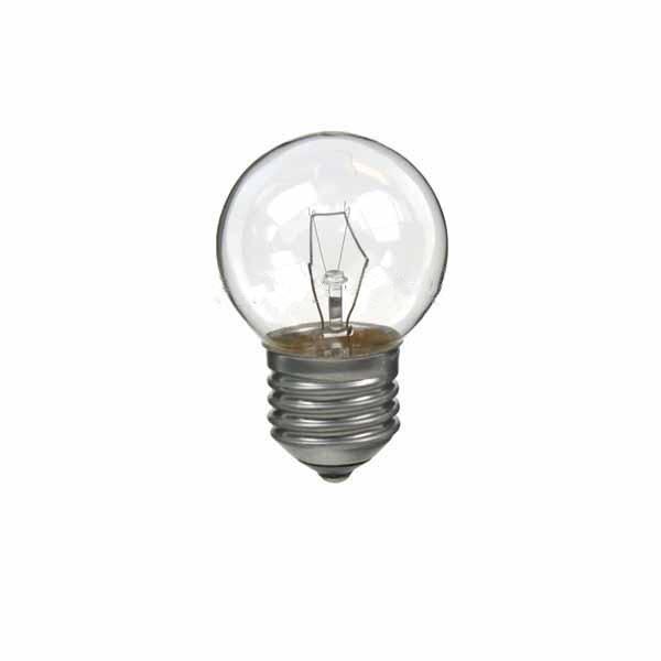 Golf Ball Bulb 45mm Round 240V 25W E27 Clear
