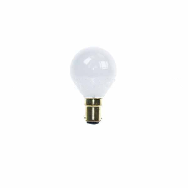 Golf Ball Bulb 45mm Round 240V 25W BA15D Opal