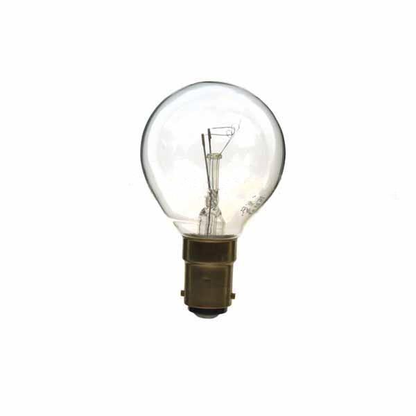 Golf Ball Bulb 45mm Round 240V 40W B15D Clear