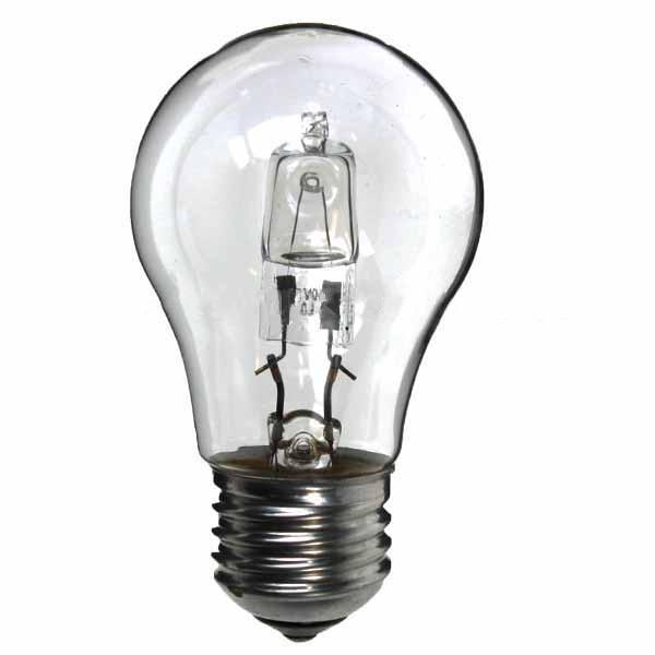 low energy halogen lightbulb gls 240v 53w es energy saving halogen household bulbs. Black Bedroom Furniture Sets. Home Design Ideas