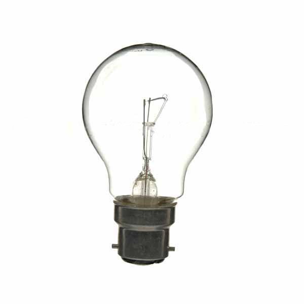 GLS Light Bulb 240V 60W B22D Clear