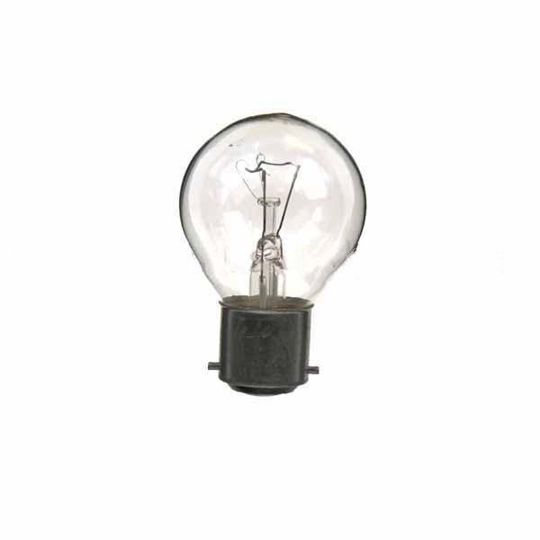 Golf Ball Bulb 45mm Round 240V 60W B22D Clear