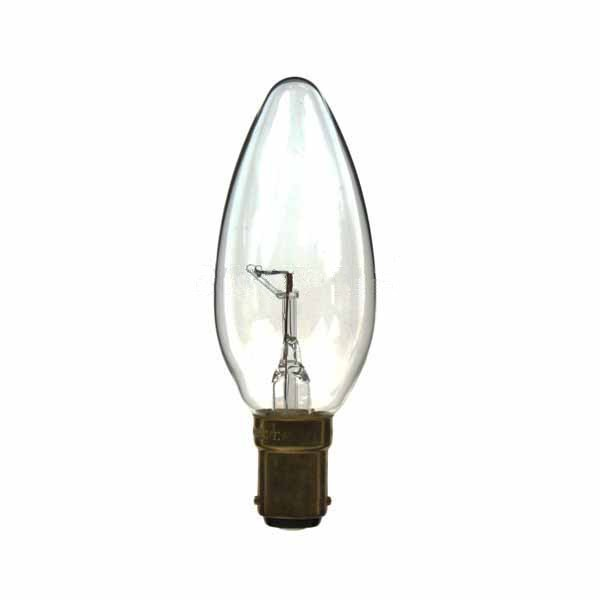 CANDLE 240V 15W BA15D CLEAR