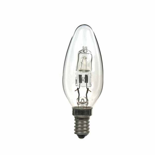 LOW ENERGY HALOGEN CANDLE BULB 18W E14 CLEAR