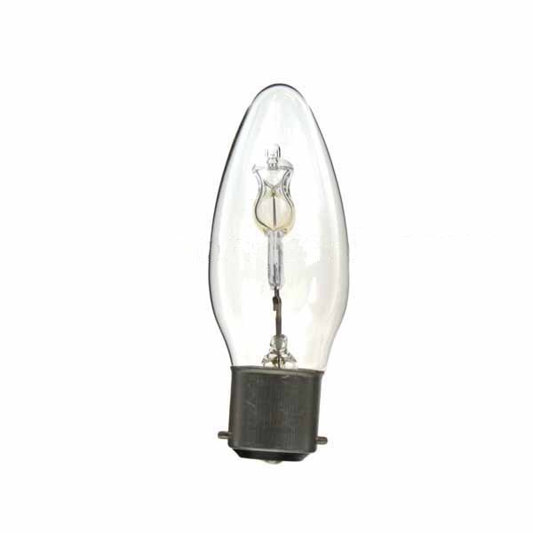 LOW ENERGY HALOGEN CANDLE BULB 28W B22D CLEAR