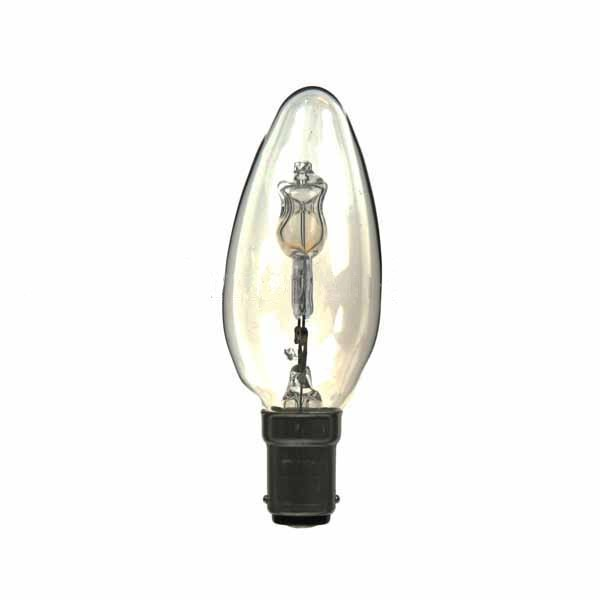 LOW ENERGY HALOGEN CANDLE BULB 28W B15D CLEAR